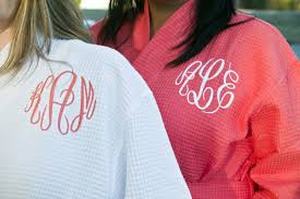 waffle robes for bridesmaids monogrammed waffle robe personalized bridesmaids gift bridesmaid