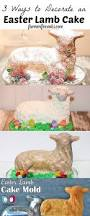 Lamb Decorations For Easter by 3 Ways To Decorate An Easter Lamb Cake The Farmwife Cooks
