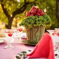 theme centerpiece summer garden party theme table decorating ideas with strawberries