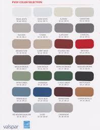 Valspar Colour Chart Valspar Pvdf Color Selection Hometown Metal Supplies
