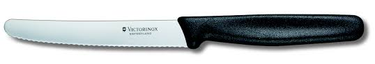 Knives Victorinox Kitchen Victorinox Tomato And Sausages Knife 11 Cm Serrated Blade 5 0833
