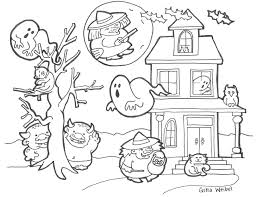 cute halloween coloring pages for kids archives and cute halloween