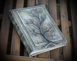 Art Leather Photo Albums Leather Photo Album 13x9 With Tree For 300 Photos Anniversary