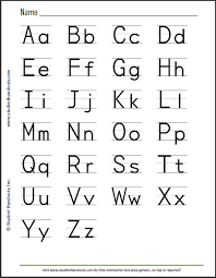 abc pages to print free printable print manuscript handwriting alphabet handout for