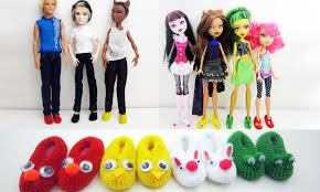 How To Make Dollhouse Furniture From Recycled Materials How To Make Doll Monster High Barbie Slippers Really Works