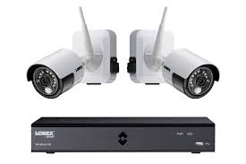 hd 1080p wire free security camera system with 4 white