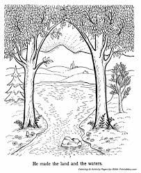 bible creation story coloring pages creation day 3 bible