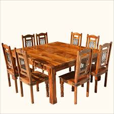 rustic square dining table cabin dining sets dining room ideas