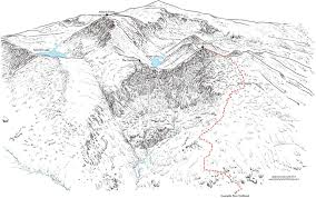 14ers Map Mount Bierstadt 3d Map Detailing The West Slopes Route From
