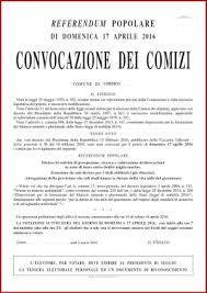 convocazione consiglio dei ministri referendum abrogativo trivellazioni in mare citt罌 di corsico