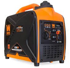amazon com wen 56125i super quiet 1250 watt portable inverter