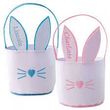 personalized bunny easter basket easter bunny personalized baskets lillian vernon