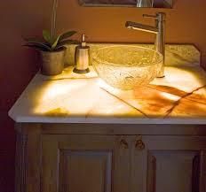 Onyx Vanity Backsplashes For Granite Countertops Best Kitchen Backsplash Image