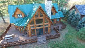 lakefront log home for sale waupaca wi chain o lakes log homes