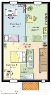 plan maison etage 3 chambres plan maison a etage 2 chambres