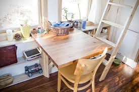 Tiny Home Dining Table 30 000 Hand Built Tiny Home In California Hiconsumption