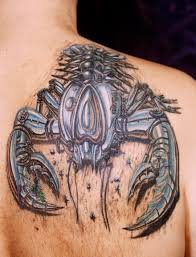 big crab scorpion tattoo for men