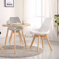 Tulip Chair Mmilo Tulip Dining Office Chair With Solid Wood Legs U0026 Cushioned