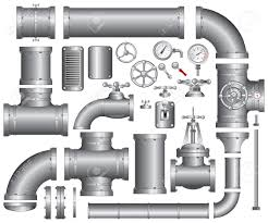 Faucet Pipes Vector Collection Of Detailed Construction Pieces Pipes Fittings