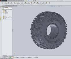 cad model a tire in solidworks 11 steps