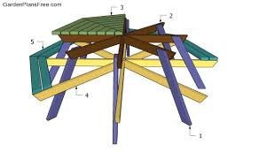 octagon picnic table plans free free garden plans how to build