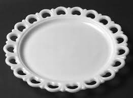 milk glass egg plate anchor hocking lace edge milk glass at replacements ltd