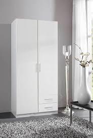 armoire chambre 2 portes armoire 2 portes 2 tiroirs spectral blanc