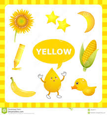 learning yellow color stock vector image 54849371