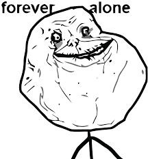 Forever Alone Meme Face - forever alone sad jpg
