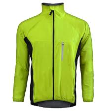 bicycle windbreaker winter jackets wj 1306 yellow funkier bike