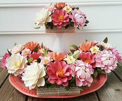paper flower centerpieces paper flower centerpiece table arrangement wedding flowers