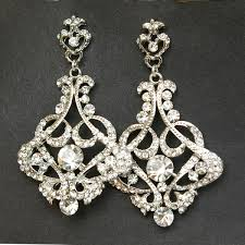 vintage wedding earrings chandeliers chandelier bridal earrings vintage wedding earrings
