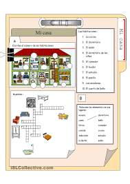 Spanish House Floor Plans Vocabulary For The House And Furniture In Spanish Free Account