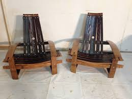 Wine Barrel Rocking Chair Plans Buy Handmade Wine Barrel Stave Adirondack Chairs Made To Order