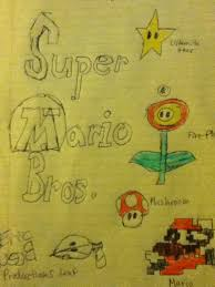 original super mario bros wallpaper sketch by ericbriefs on