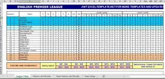 aplikasi klasemen liga inggris 2016 2017 excel otomatis