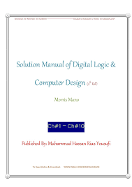 solution manual of digital logic and computer design 2nd edition