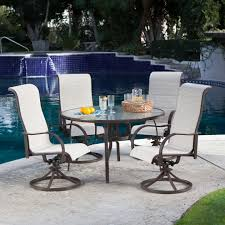 high back swivel rocker patio chairs coral coast del rey deluxe