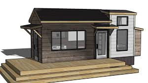 tiny vacation home design floorplan layout with guest bed ana