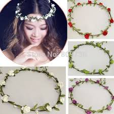 flower hair band wedding floral hair band flower garland floral bridal headband