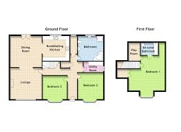 2 bedroom bungalow house plans uk