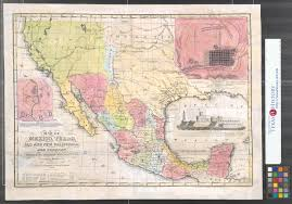 Old Texas Map Map Of Mexico Texas Old And New California And Yucatan Showing