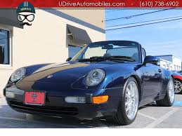 1998 porsche 911 supercharged carrera cabriolet 6 speed manual
