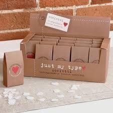 Wedding Wishes Box Just My Type Kraft Tissue Paper Confetti Confetti Co Uk