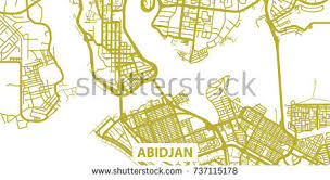 map of abidjan detailed vector map abidjan scale 130 stock vector 737115238