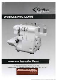 sew incidentally delta ol 1000 overlocker pdf instruction