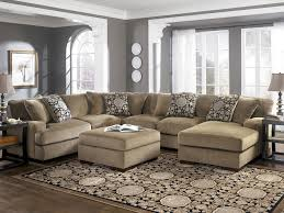 Living Room Furniture Modern by Sectional Sofa With Ottoman Bobkona Manhattan Reversible