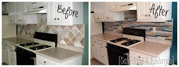 painted tiles for kitchen backsplash how to paint a backsplash to look like tile
