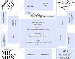 cootie catcher wedding program template fortune teller etsy