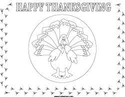 thanksgiving place mat printable crafts and ideas